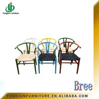 wholesale wood wishbone chair,Colorful Wishbone Chair,Hans J Wegner Style Wishbone wooden chair/YJ-095