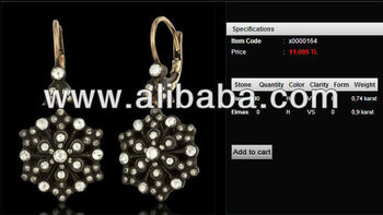 2013 new fashion high quality rose cut diamond earrings