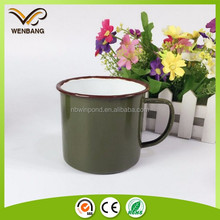 Enamelware mug custom travel mug drinking cups for elderly