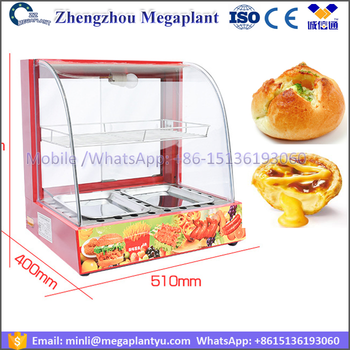 glass cover food hamburger warmer container machine