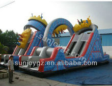 2016 New Sunjoy Giant Dry or Water Inflatable Ferris Wheel Slide Inflatables