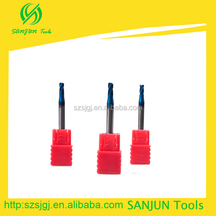 HRC65 Nano Coating Carbide Corner Raduis End Tool/Small Diameter Tungsten Steel Carbide Knife/Brazed Carbide End Mill Cutter