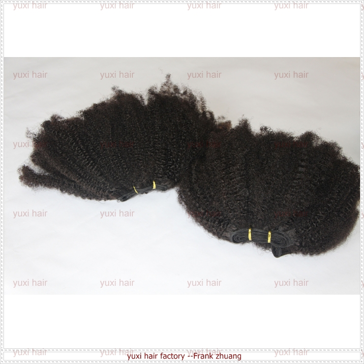 Factory price Mongolian virgin human hair afro curl kinky curl weaving afro hair extension for black women wholesale