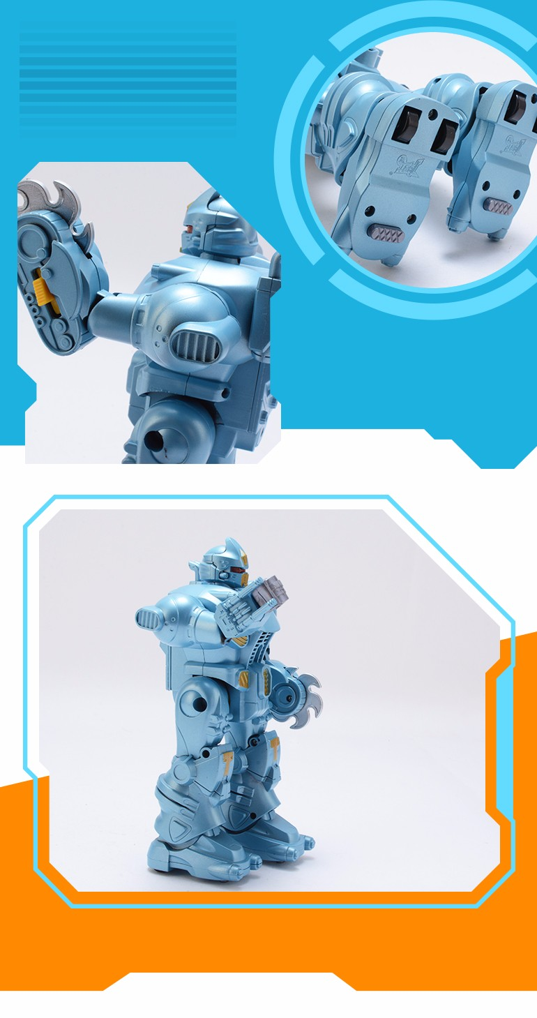 2018 new lowest china price light blue intelligent robot electronic toy for children