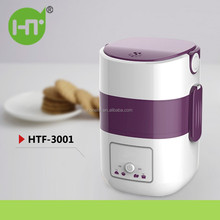 2017 NEW ARRIVAL HTF-3001 2015 New Double Layers Warm Thermal Electric Heated Lunch Box Mini Rice Cooker