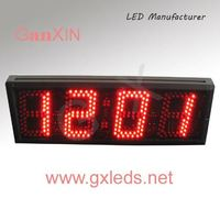5inch with CE ROHSglowing led color change digital alarm clock