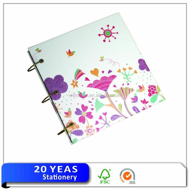 3 ring binder paper photo album for school / album foto