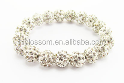 Wholesale fashion shamballa beads jewelry 316l stainless steel