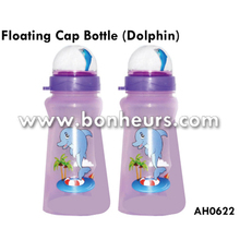 New Novelty Toy Sea Animal Printed Floating Dolphin Cap Bottle