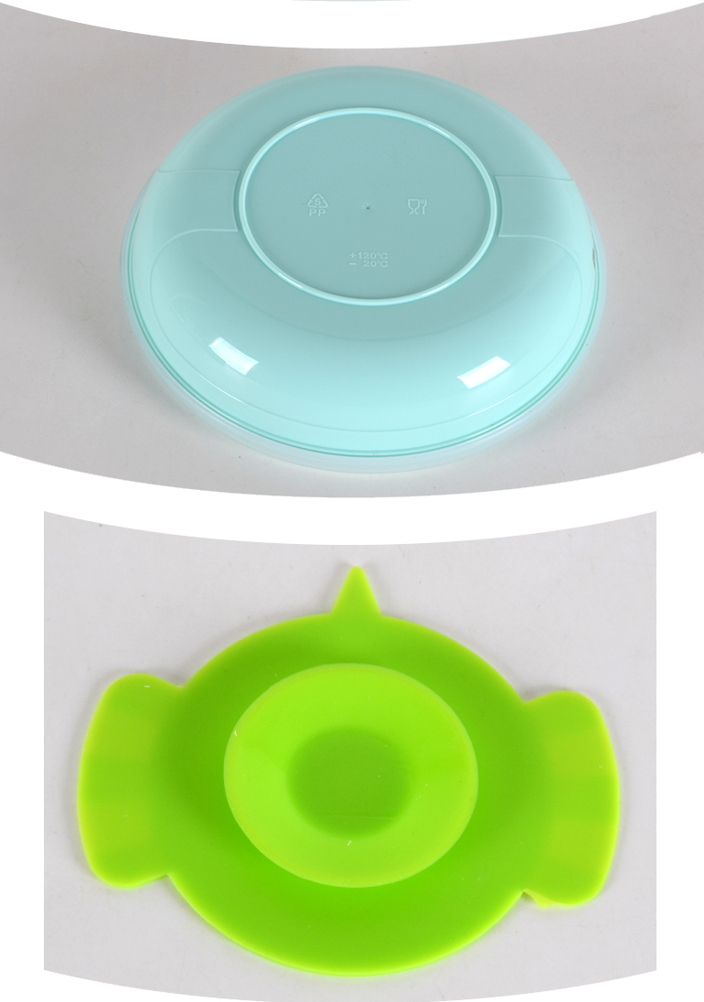 Factory price 300ml silicone baby plate water-filling mouth dinner plate anti-slip plate