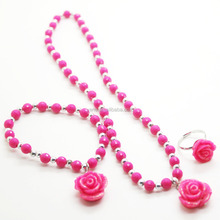 plastic bead necklace for kids, wholesale jewelry from china, simple necklace designs
