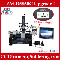 Zhuomao Most Economical BGA rework station ZM-R5860C with camera and soldering iron vs scotle hr6000 and scotle hr460
