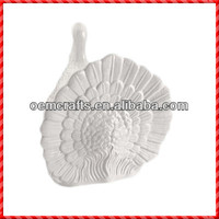 Nice resin white handmade decorative turkey Souvenir Thanksgiving