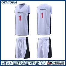 grade one sublimated camo blue reversible basketball jerseys