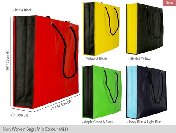 tote logo recycle promotional non woven bag with good price