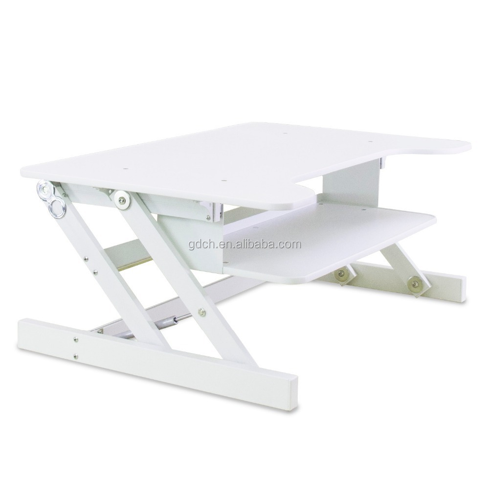 Fashion and portable design height adjustable folding stand up laptop desk