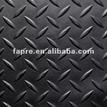 commercial used diamond tread rubber mat/diamond pattern rubber sheet