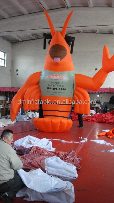 customized new style giant inflatable lobster for advertising