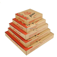 4/6/8/10/12/14 inch wholesale take way traditional flute corrugated pizza box with logo