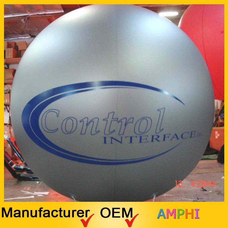 2015 customized cheap advertising PVC inflatable helium balloon