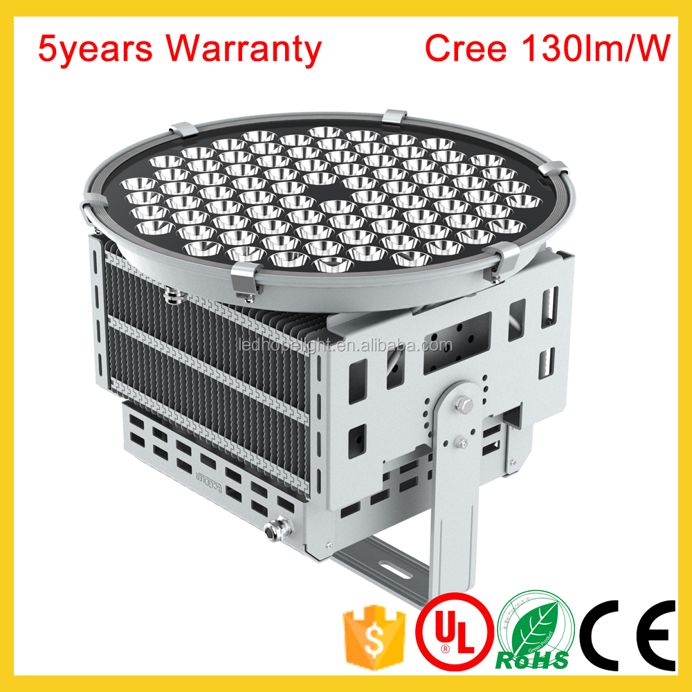 waterproof AC85V~277V led outdoor spotlight 100W 150W 250W 300W 500W Meanwell driver