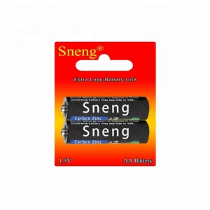 Sneng AA Carbon Zinc Dry Battery 2PCS/Pack R6P UM3 UM-3 MN1500 E91 1.5V Super Heavy Duty High quality Competitive Price