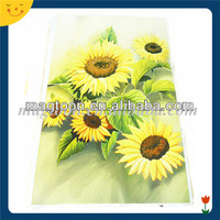 Big size flower printing magnetic refrigerator sticker