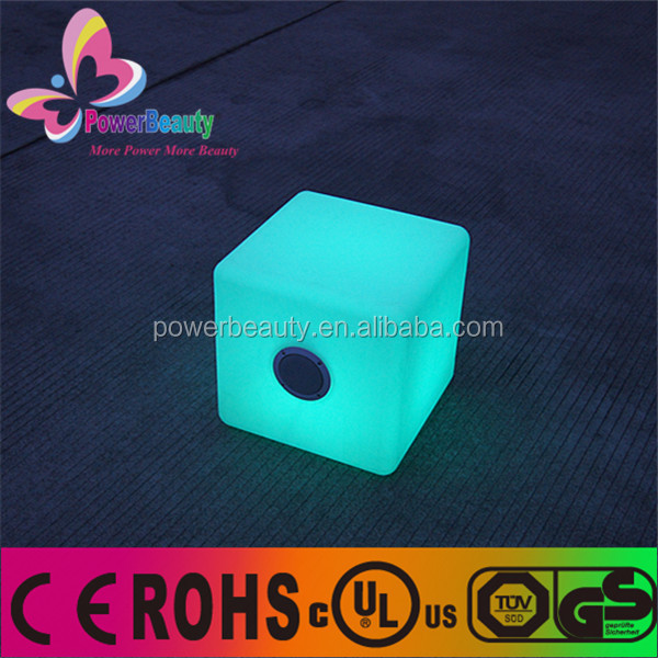 hot sell rgb color changing led lighting glowing BT led cube flashing speakers