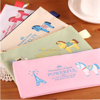 Creative Oxford cloth zipper cartoon stationery pencil case for student