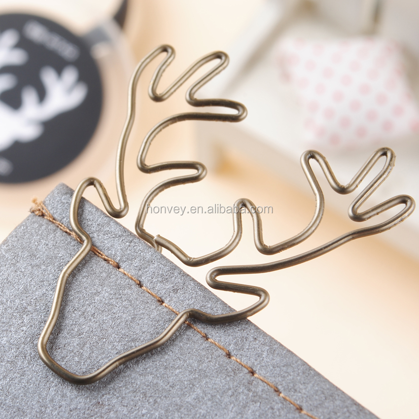 8PCS/Lot Vintage Deer Elk Head <strong>Clip</strong> Metal Paper <strong>Clips</strong> Bookmark Pin Stationery Office Accessories Memo <strong>Clips</strong>