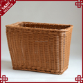 Simple design PE wicker hand woven rectangular shape bathroom dirty clothes basket