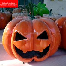 artificial fiberglass halloween pumpkin for decoration