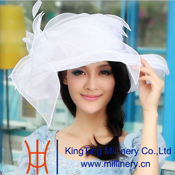 2013 New Design White Sun Dress Hats Wholesale
