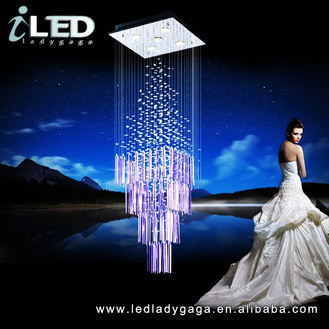 <strong>Modern</strong> and fashion beautiful purple crystal decorative led chandeliers