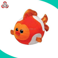 custom goldfish stuffed toy soft fish plush toy made in China