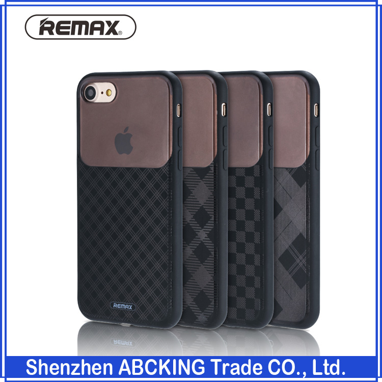 Remax Sky Series Phone Cover Hard PC+PU Phone Cases For iPhone 7 / 7 Plus