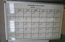 China office Weekly Painting coated planner aluminum frame magnetic Whiteboard printing