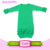 Personalized Triple Icing Ruffe Bottom Long Sleeve Infant Sleeper Gown Baby Girls Coming Home Outfit