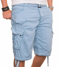 Summer Fashion Half Pants 100% Cotton Casual Men's Cargo Shorts