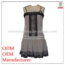 New Arrival good quality black shoulder strap design transparent ladies night sexy dresses