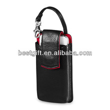 2014 new design best brands mobile phone leather case with strap