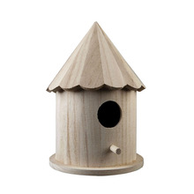 Chinese early teaching montessori materials children toys wooden Birdhouse
