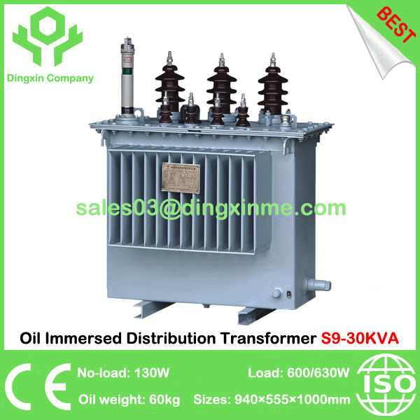 China Best Oil Immersed Distribution Transformer S9-30KVA