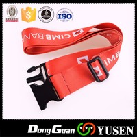 Factory Supply Custom nylon belt with plastic buckle
