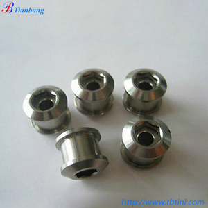 NEW CNC Machining Grade 5 6AL4V M8 x 0.75mm x 8mm Titanium Chain ring Bolts & Nuts For Bicycle Crankset
