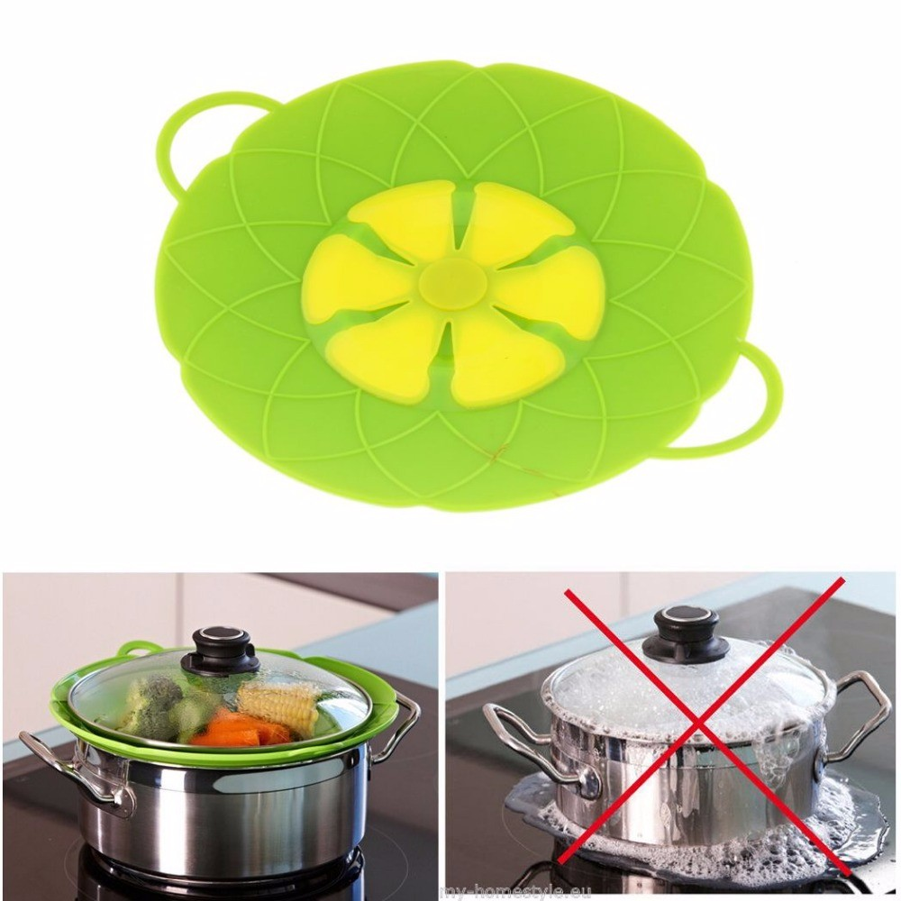 Silicone Wholesale FDA /LFGB Food Grade Boiling Lid for Pot No Spill Stopper Lid