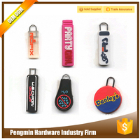 Guangzhou OEM popular fashionable rubber zipper pull