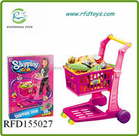 Funny plastic shoppin cart toys colorful baby shopping cart toy