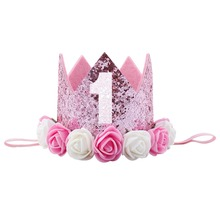 China Wholesale Baby Girls Birthday Party Crown Supplies Hair Accessories Headband For Kids
