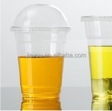 transparent 14oz 400 cc plastic cold beverage cups PET glass with dome lids